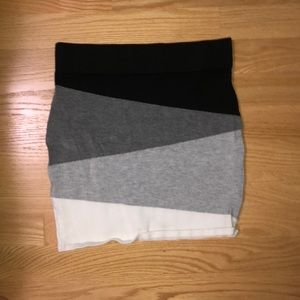 Colorblocked Mini Skirt